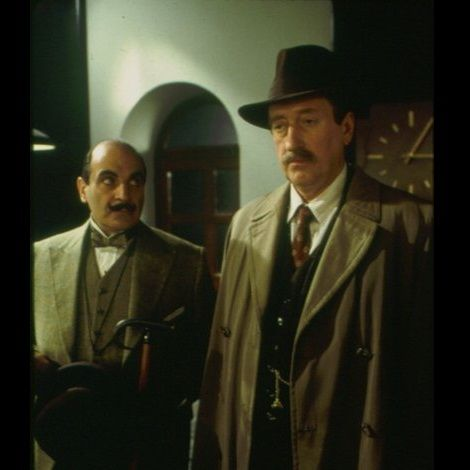 David Suchet and Philip Jackson in The Murder of Roger Ackroyd (episode 1, season 8, 2000)