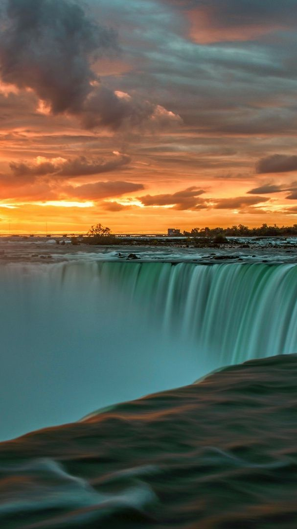 Niagara-Falls-Sunset-Wallpaper-iPhone-Wallpaper | Óceán