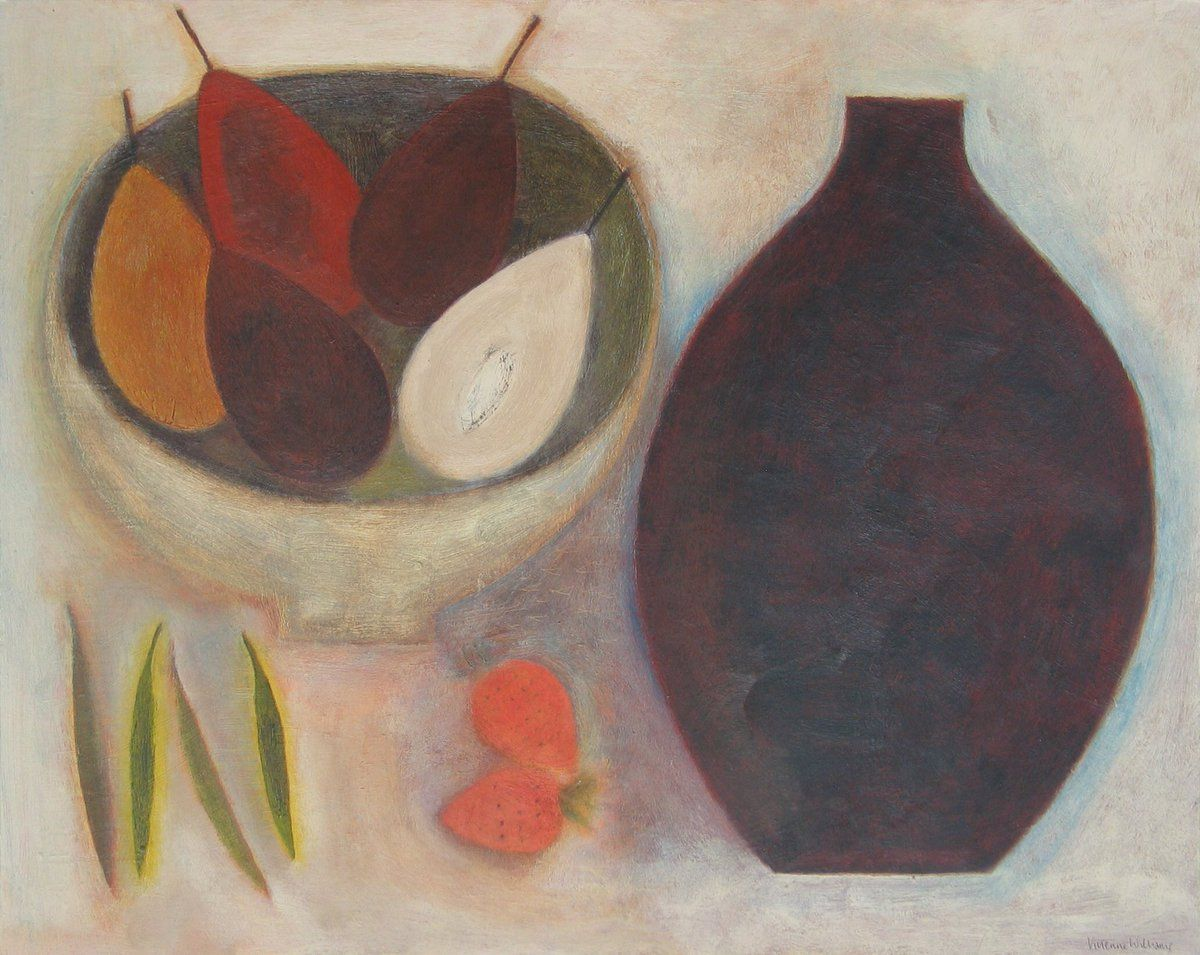 Still Life with Strawberries, (2013) by Vivienne Williams