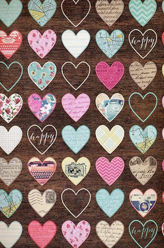 Pattern Hearts Background Photo Backdrop - 428