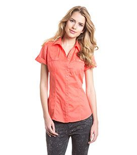 coral cotton shirt