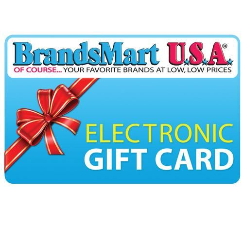 BrandsMart USA Gift Card - $25 Electronic Gift Card | Gift cards ...
