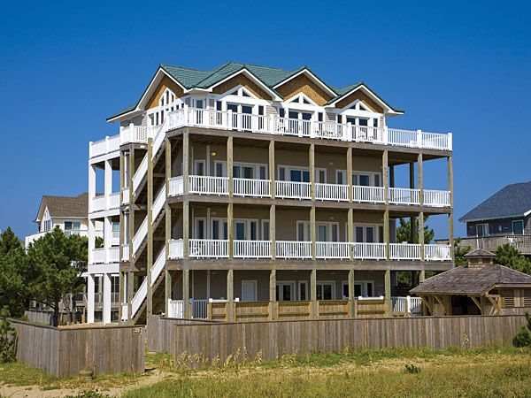 Castlemere 10 Bedroom Ocean Front Home In Avon Obx Nc Ocean Front Homes Outer Banks Rentals Vacation