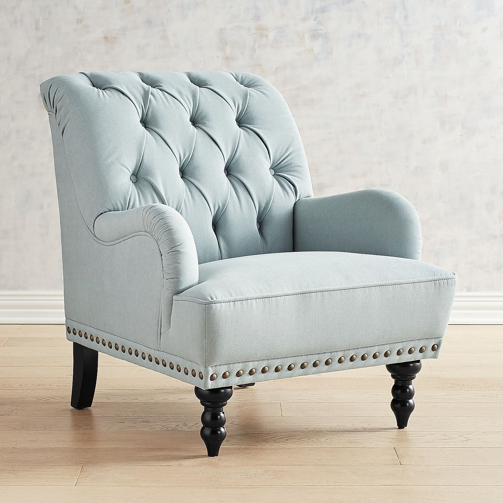 Chas Pierformance™ Light Blue Armchair | Pier 1 Imports