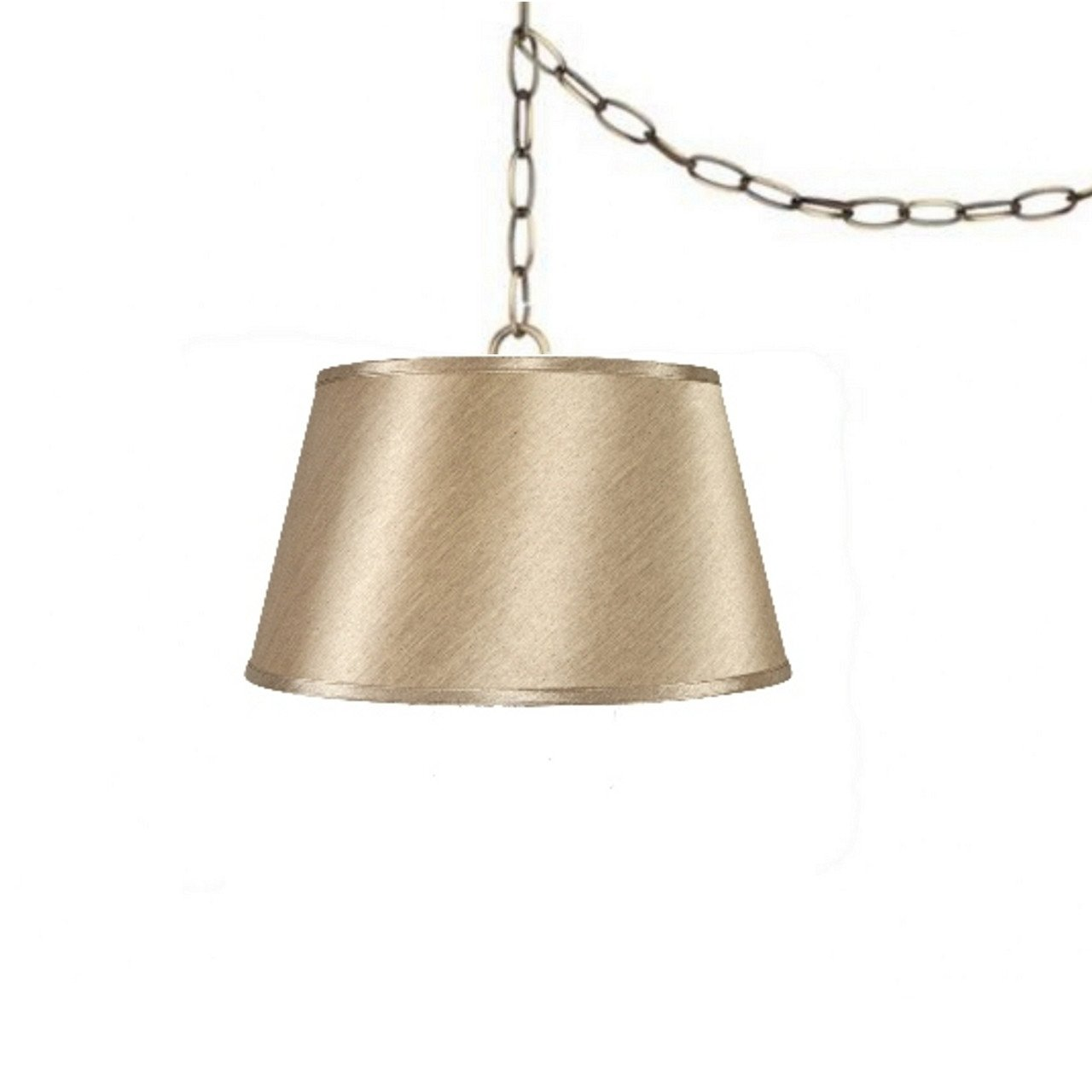 Satin sand inch drum portable swag lamp shade in products
