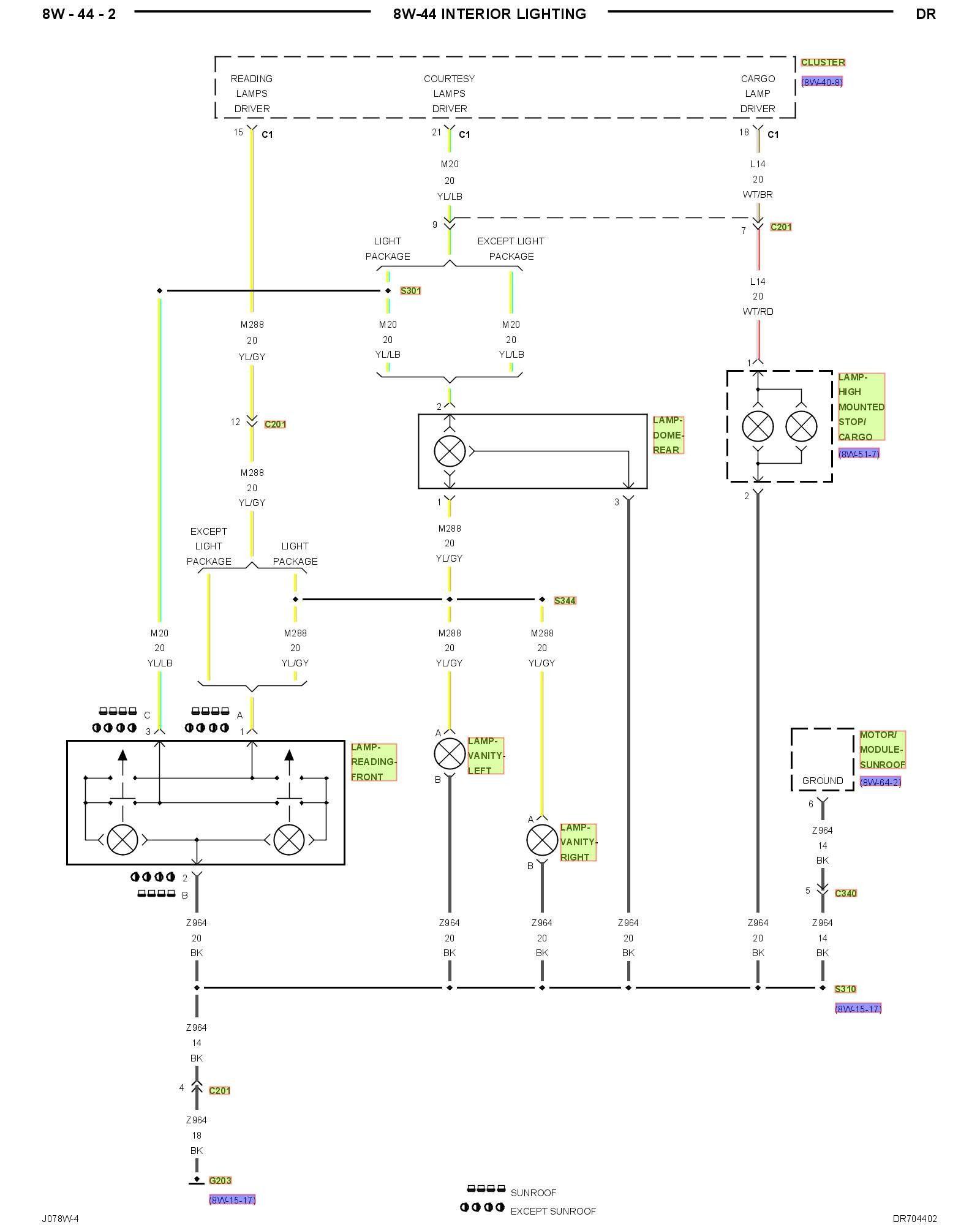 1999 Dodge Ram 2500 Headlight Dimmer Switch Wiring Diagram