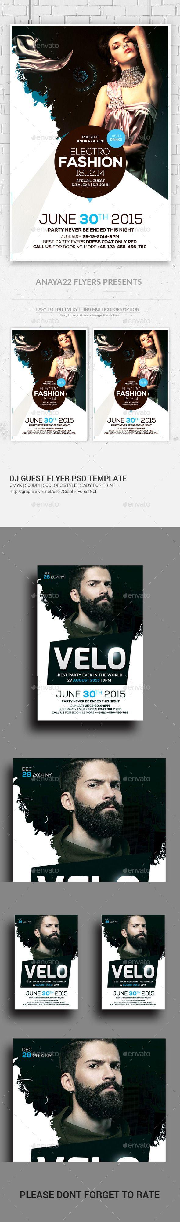 Electro Concert Dj Flyers Bundle | Electro music, Psd templates and ...