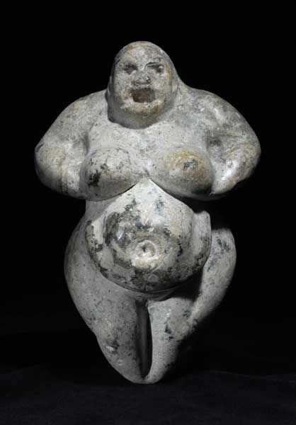 Neolithic Fertility Goddess   Origin: Anatolia   Circa: 6000BC to 4000BC  ...elbows form eye shape of idoli