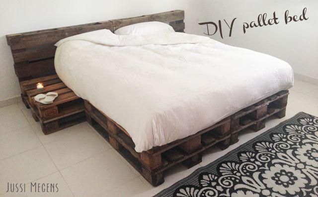 Bed Van Pallets : Diy bed van pallets Кровати из поддонов в г pallet beds