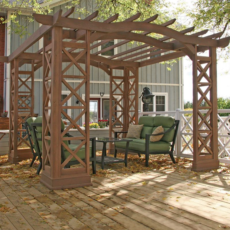 Awesome Costco UK   Yardistry 3.7 X 3.7m Pergola Room Kit With Sunbrella Shade