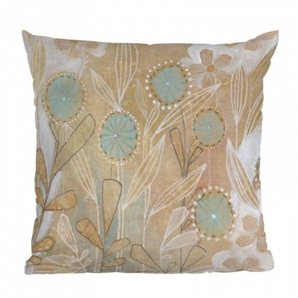 DENY Designs Cori Dantini Blue Floral Throw Pillow