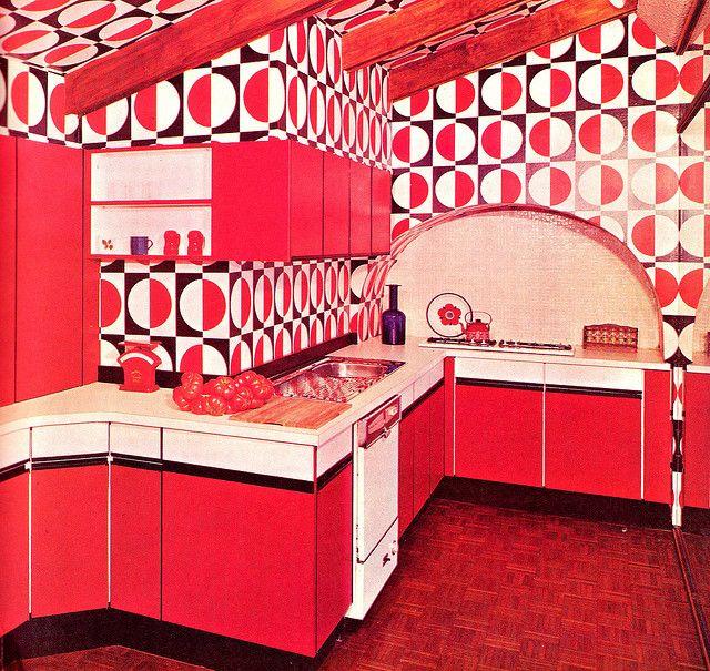 Luxury Kitchens 1976 | Art tiles, Op art and 1970s