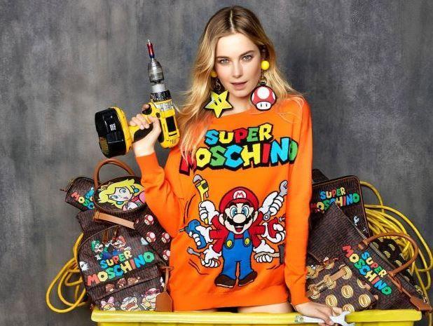 Super Moschino : una collezione fashion dedicata a Super Mario