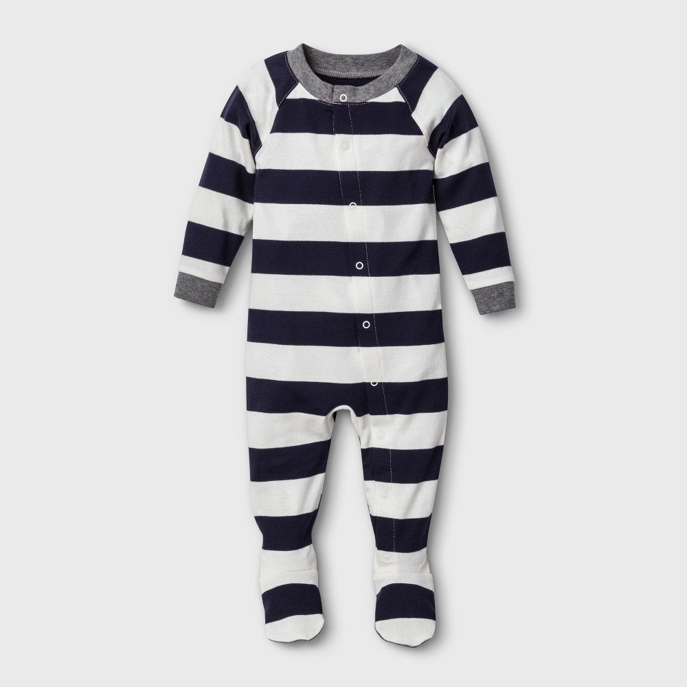 efd46767d7283 Baby Striped Footed Sleeper - Navy 3-6M in 2019 | Sleepwear | Family ...
