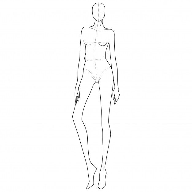 Photo of Fashion body figure template