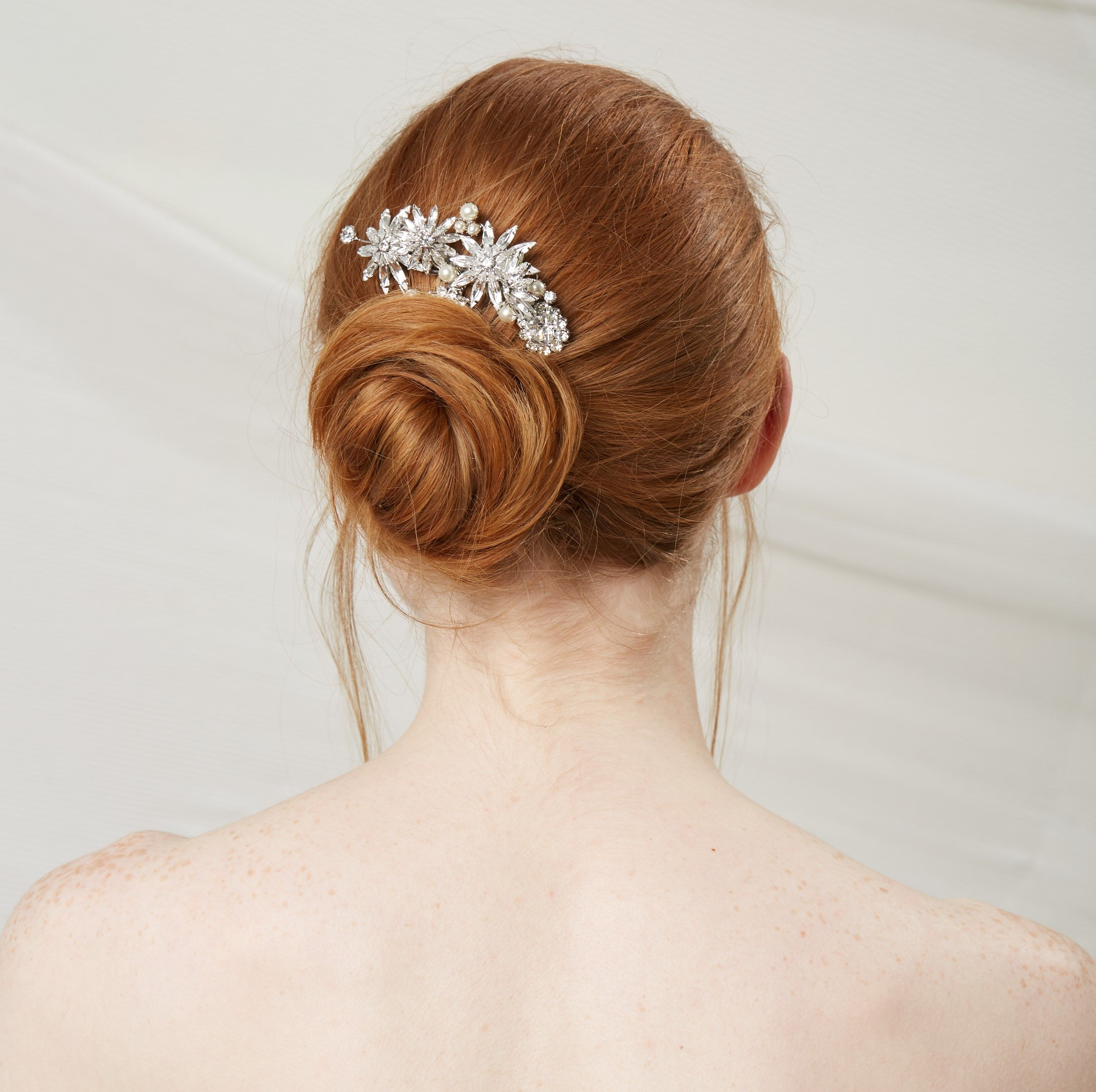 crystal bloom and pearl comb in 2019 | bridal headbands