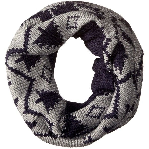 Muk Luks Women's Snowflake Nordic Funnel Scarf ($18) ❤ liked on Polyvore featuring accessories, scarves, long scarves, long shawl and oblong scarves