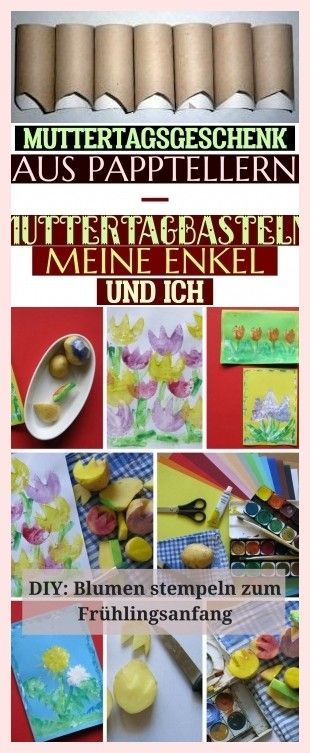Muttertagsgeschenk Aus Papptellern - Muttertag-Basteln - Meine Enkel Und Ich