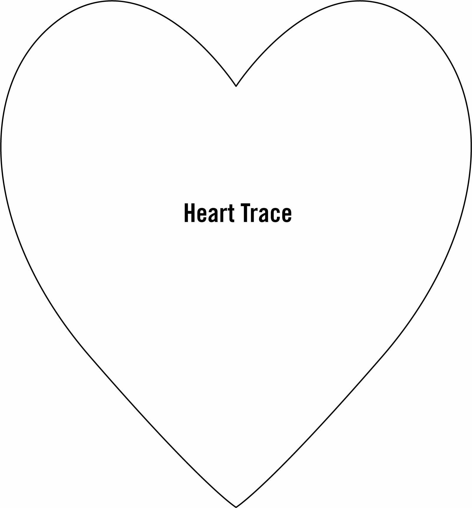 Large Heart Template WZmutn  ValentineS Day