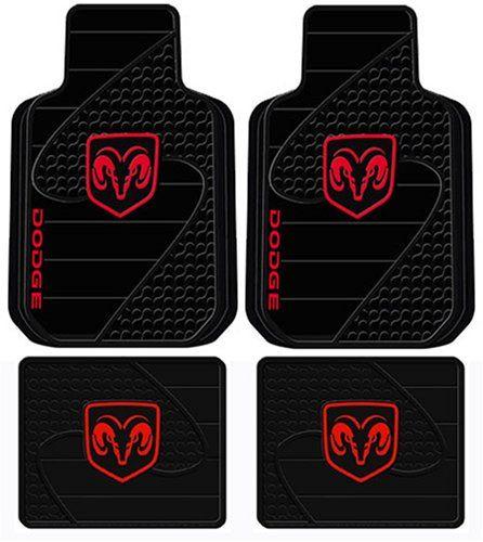 Dodge Ram Head Logo 4 Pc Floor Mats Set Car Accessories Online Market Dodge Ram Dodge Ram 1500 Accessories Dodge Ram Truck Accessories