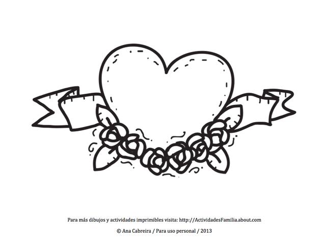 10 Dibujos de corazones para imprimir y colorear | BELLAS FRASES ...