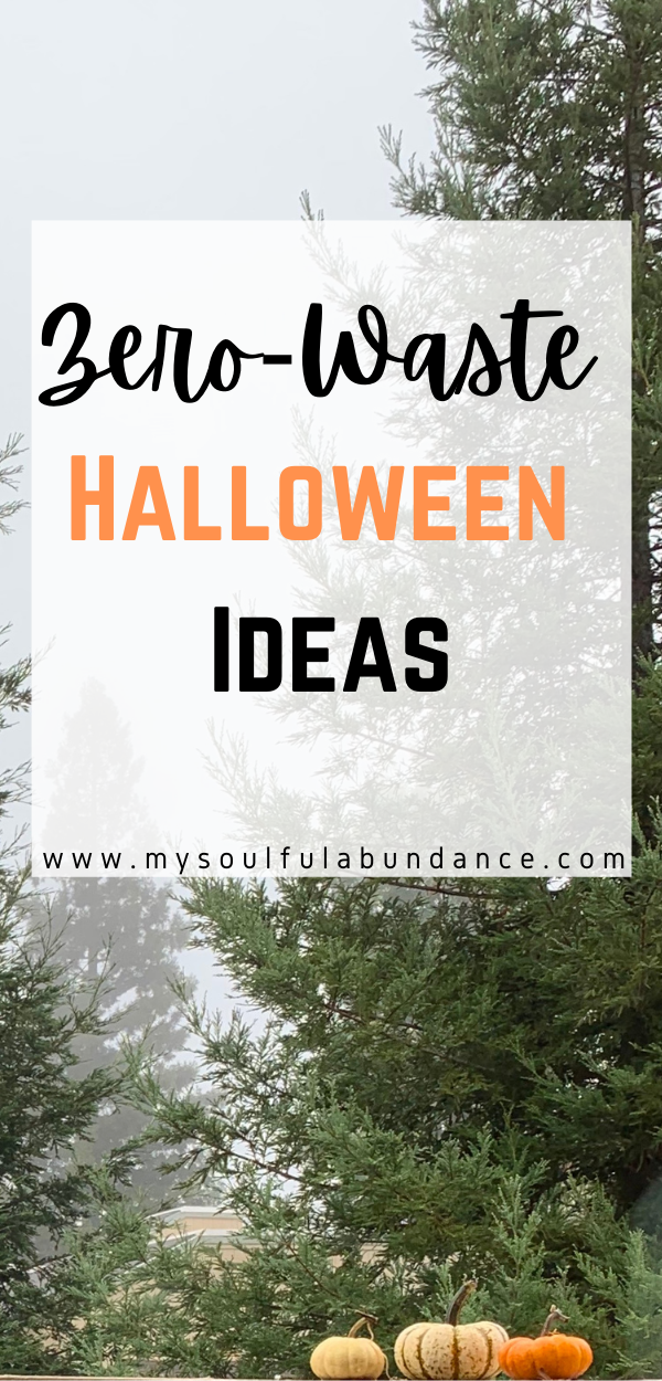 Zero-Waste Halloween Ideas- Looking for ways to be Zero-Waste for the holidays? Learn how to be more mindful of the earth by using these zero-waste Halloween ideas. #sustainableliving #zerowastehalloween #zerowaste