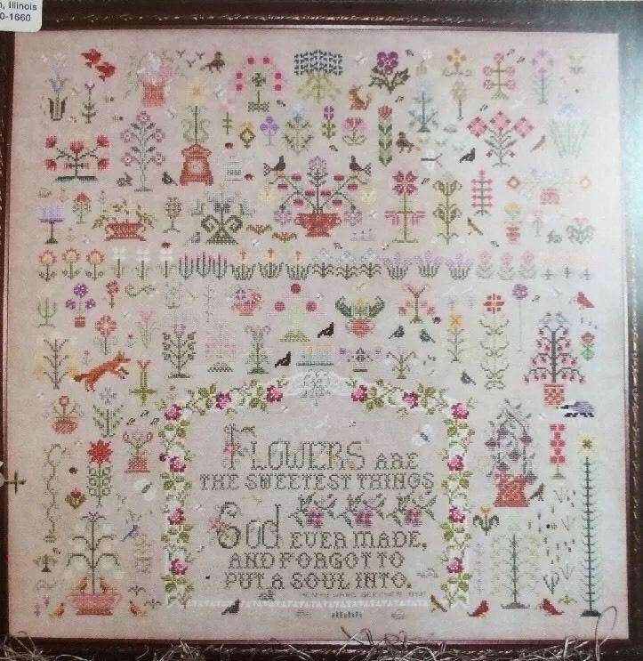 and a garden grew cross stitch chart sampler karen kluba