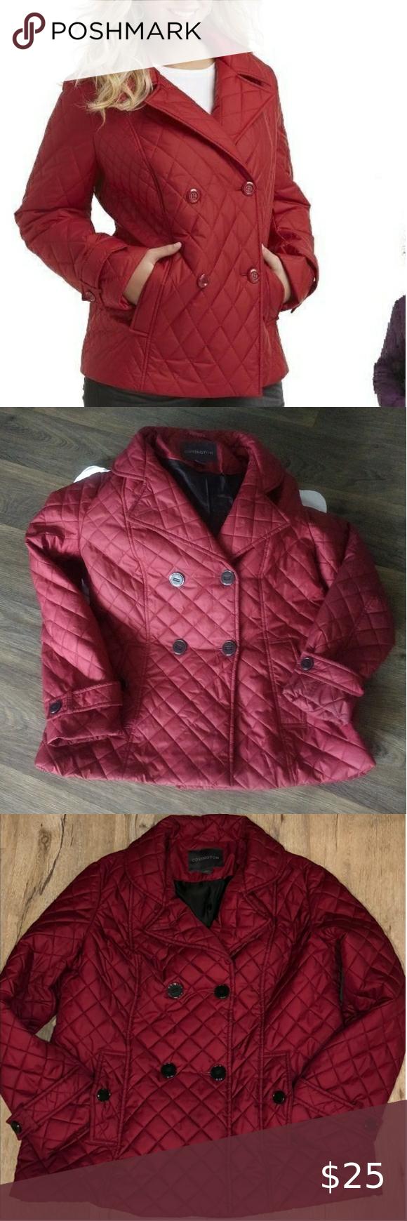 5 For 15 Covington Burgundy Puffer Jacket Puffer Jackets Jackets For Women Jackets [ 1740 x 580 Pixel ]