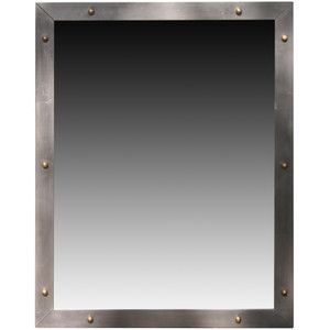 industrial steel frame mirror