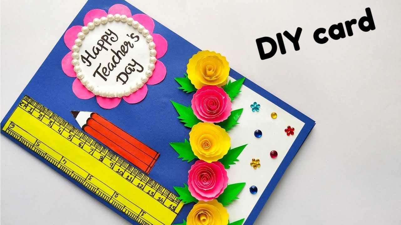 Diy Teacher S Day Card Handmade Teacher S Day Card Easy Card Making Id Card Making Ideas Easy Teachers Day Card Happy Teachers Day Card