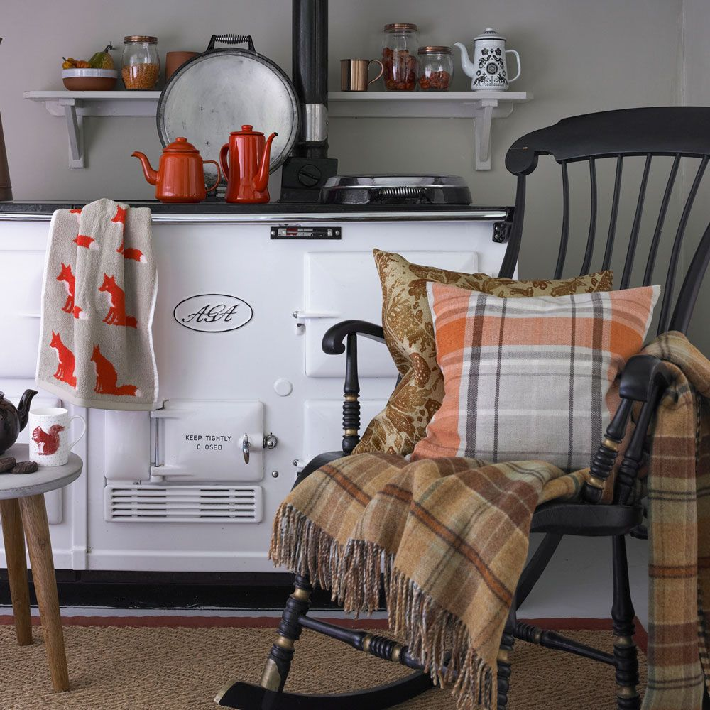 An autumn colour palette helps create a cosy look at home is part of Country Home Accessories Colour - Bring indoors the rich autumn colour palette of turningleaf tones, fiery reds and comforting ceruleans, and mix weathered woodland treasures
