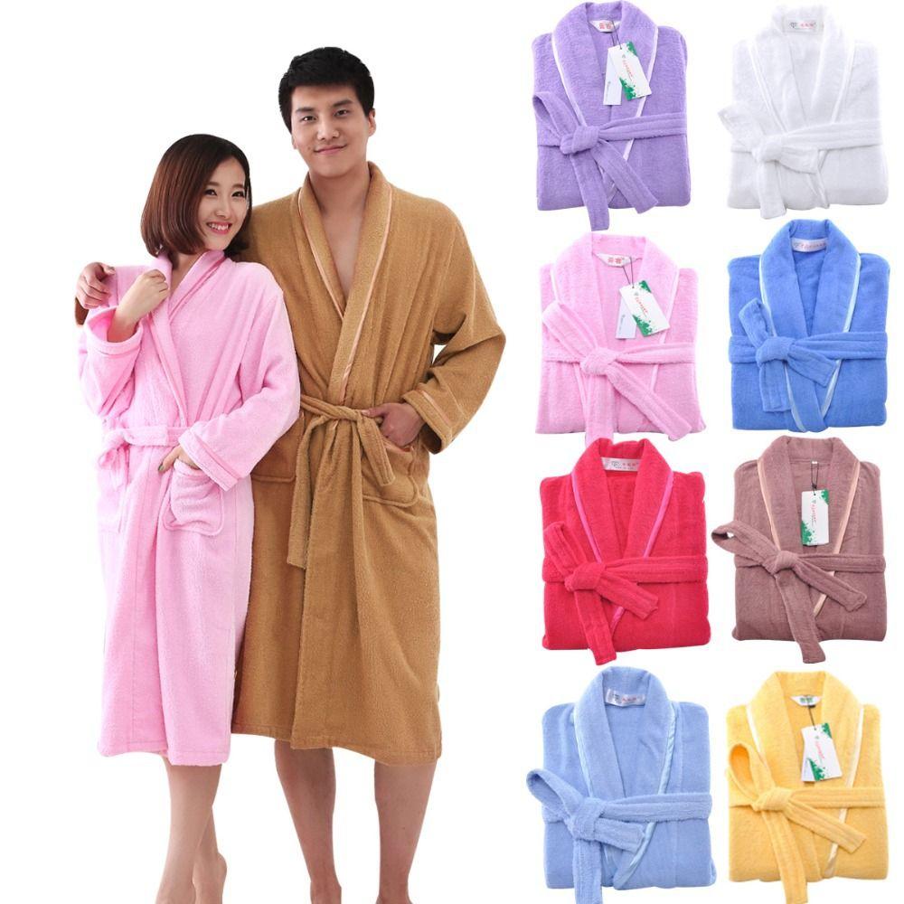MMY Brand 2017 High Quality Cotton Robe Solid terry Bathrobe  Bathroom Home Hotel  9dd45f3fc