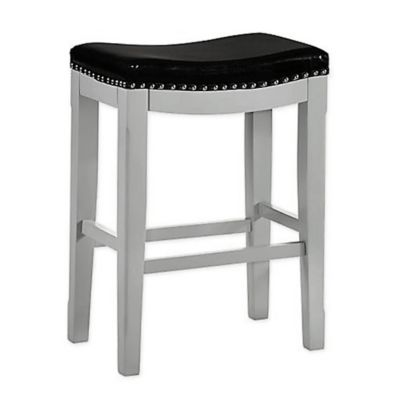 Belle Isle Furniture Faux Leather Upholstered Savannah 24 Bar Stool In Winter Grey Bar Stools Saddle Bar Stools 24 Bar Stools