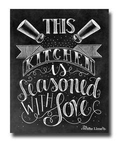 Kitchen Decor, Kitchen Art, Kitchen Sign, Kitchen Print, Chalk Art, Kitchen