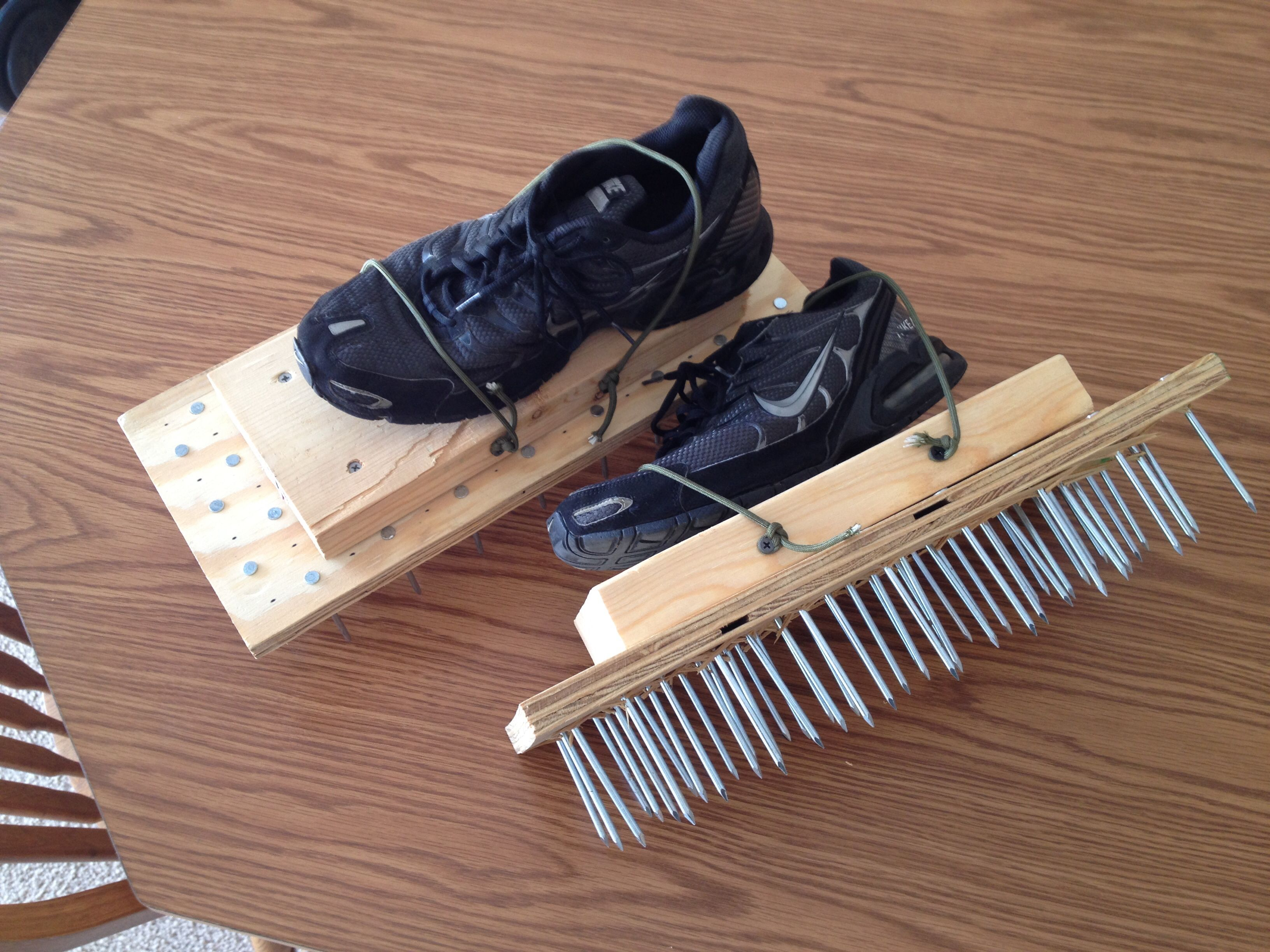 Homemade Lawn Aerator Shoes With