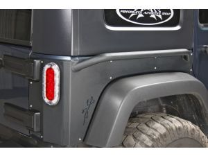 Or Fab Rear Quarter Armor With Rock Slider For 07 15 Jeep