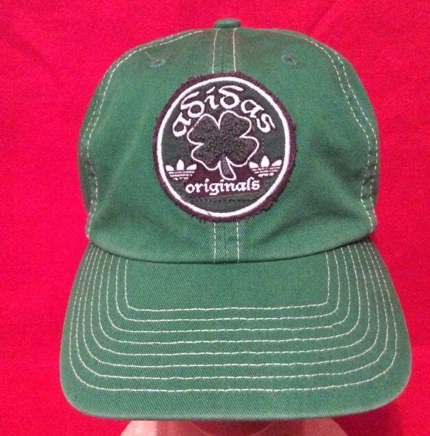 a104da0af61 Adidas Originals Green Shamrock Hat Baseball Cap Irish St Pats Day  Embroidered  adidas  BaseballCap