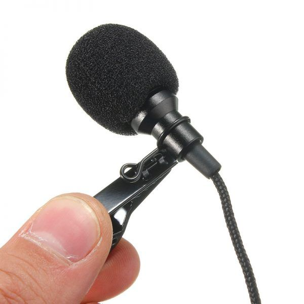Mini 3 5mm Jack Microphone Lavalier Tie Clip Microphones Microfono Mic For Speaking Speech Lectures 2 4m Long Cable Coins Shopy Microphones Microphone Lavalier
