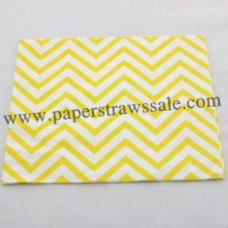 Yellow Chevron Print Paper Napkins http://www.paperstrawssale.com/yellow-chevron-print-paper-napkins-300pcs-p-782.html