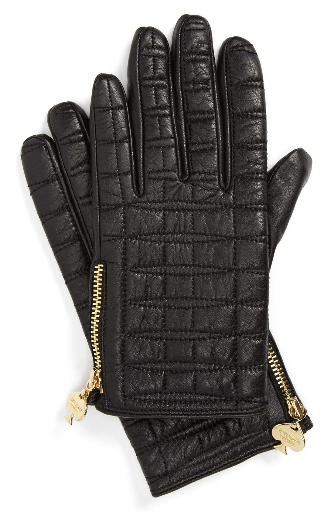 Black leather gloves meaning - Crushing On This Buttery Soft Kate Spade Quilted Leather Gloves