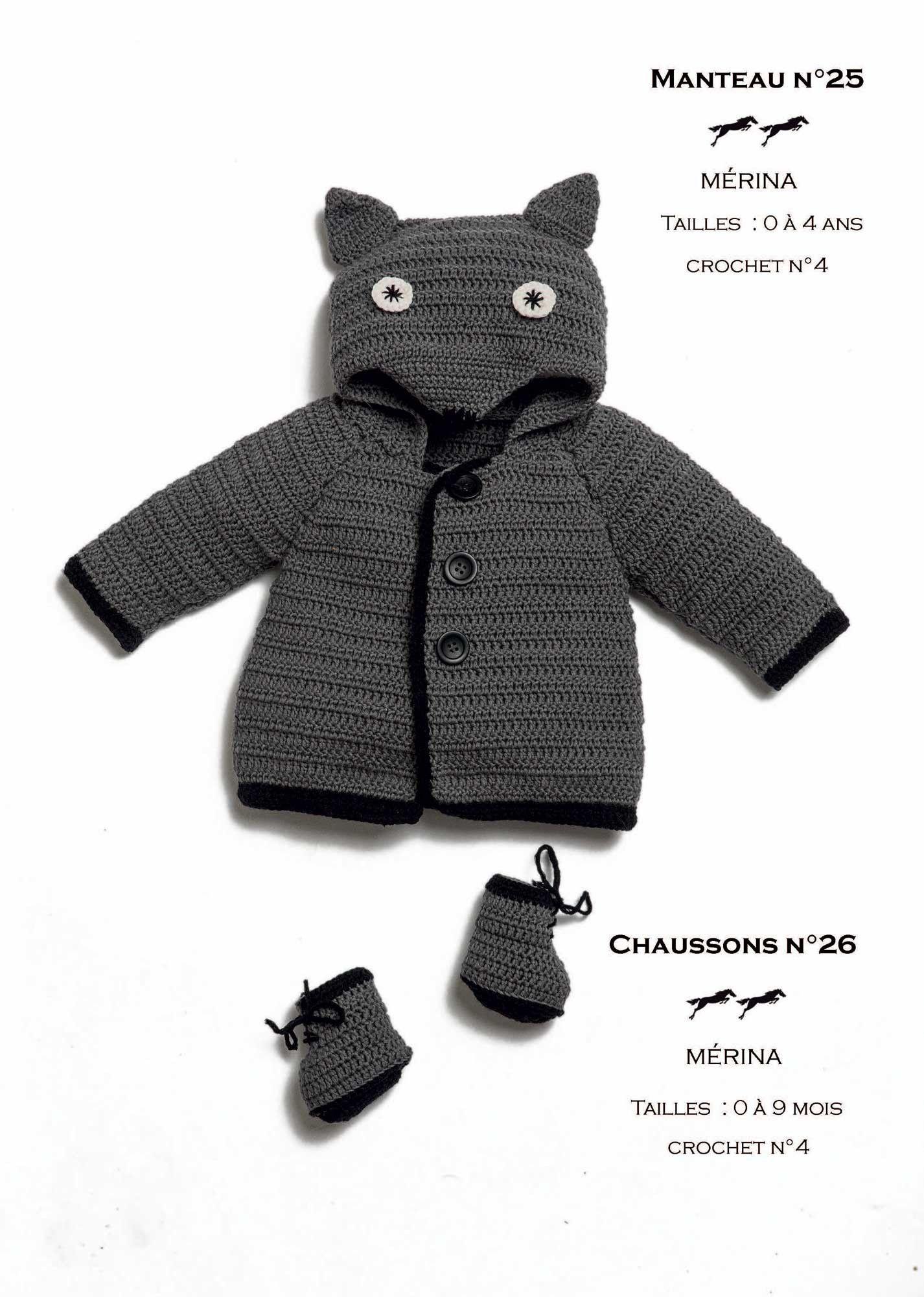 02dfb181aba8 Modèle Manteau Layette CB31 - 25 - Patron tricot