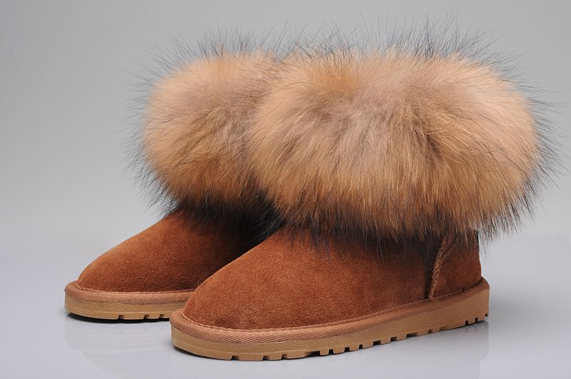 ff0105c3ec4 UGG Fox Fur Mini Boots 5854 Tan | New UGG Special | Ugg boots, Ugg ...