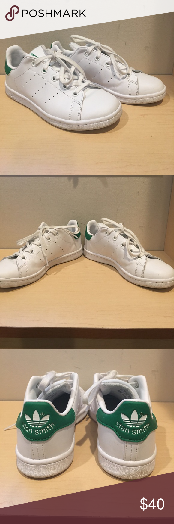190bee4f3529 Adidas Women s Stan Smith White Green 2 1 2 Pair of the classic Women s  Adidas