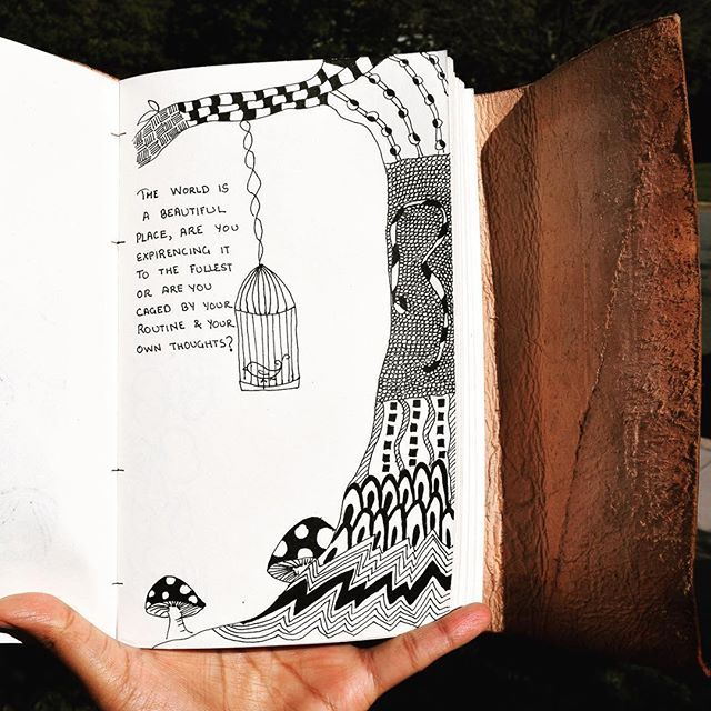 food for thought zentangle sketchbook doodle draw sketch