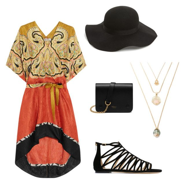 """""""Spring"""" by inspirationalnation on Polyvore featuring Etro, Jimmy Choo, Topshop, Mulberry, Spring, paisley and felthat"""