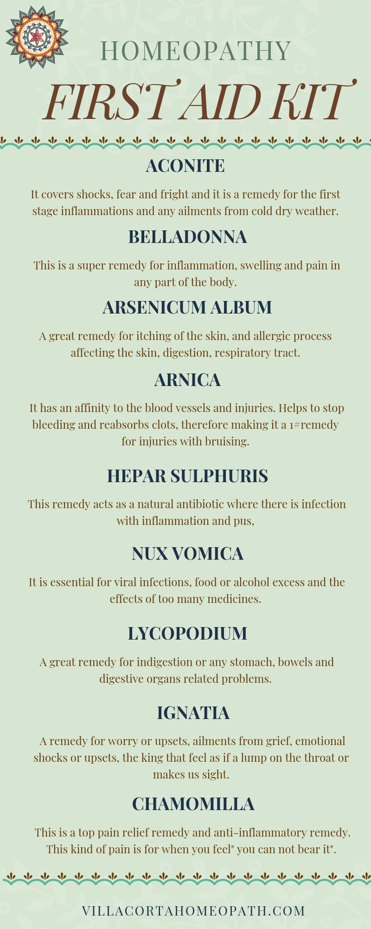 10 Most Important Homeopathic Remedies for your First Aid Kit