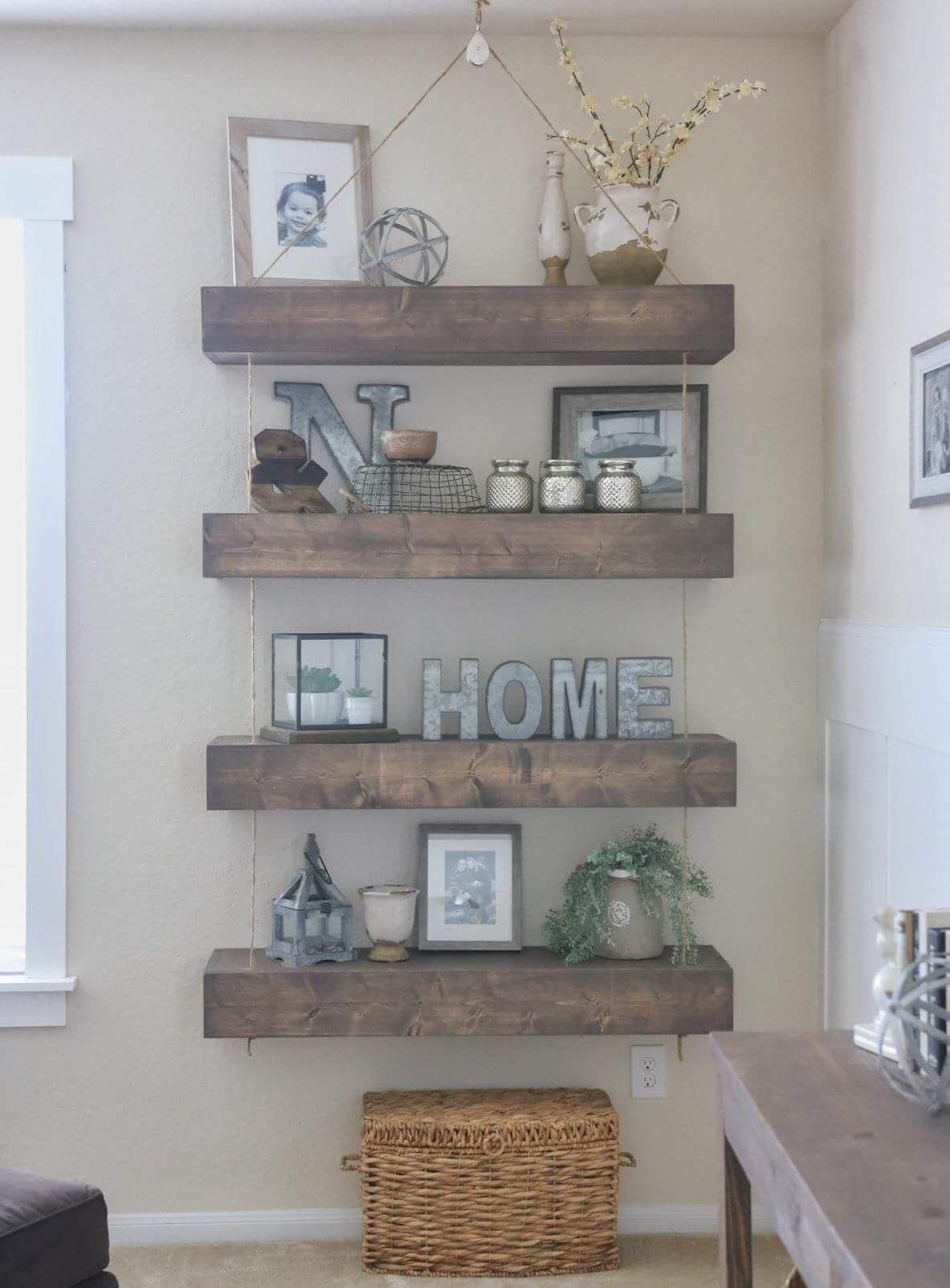 Living Room Shelf Decor, Wall Shelf Decor, Living Room Decor Ideas Grey,  Living