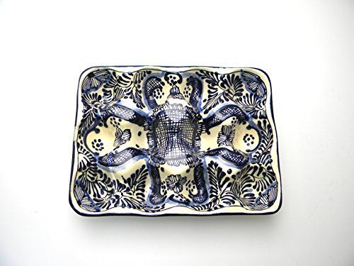 Mexican Talavera Ceramic Egg Crate Holds One Dozen (12) E...