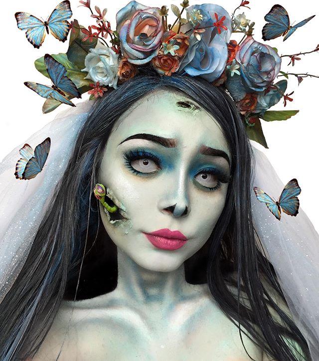Instagram Corpse bride, Halloween face makeup, Halloween