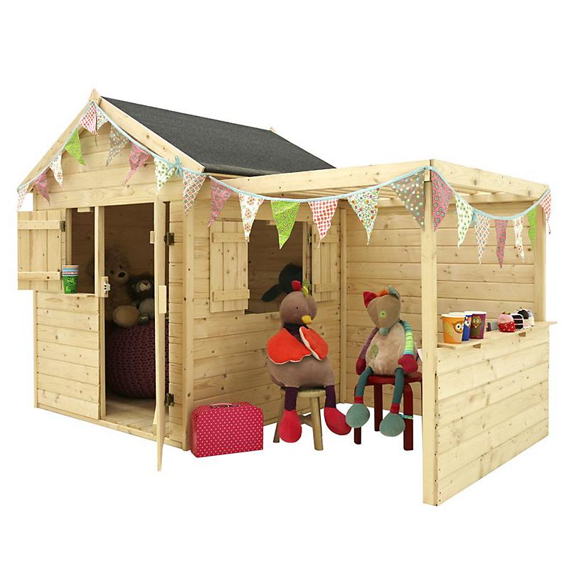 Maisonnette Enfant Avec Pergola Alpaga Maison Et Loisirs E Leclerc En 2020 Cabane Bois Enfant Cabane Jardin Enfant Jardin Pour Enfants